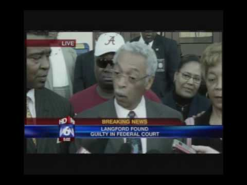 Part 1/3 Larry Langford Press Conference Immediatly after his felony conviction
