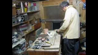 Home Made Wood Lathe. Prove It Works With A Video Response.  Just An Angle Grinder!