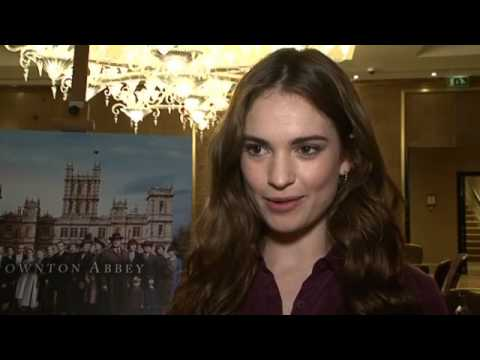 Downton Abbey series 5: Lily James interview - YouTube