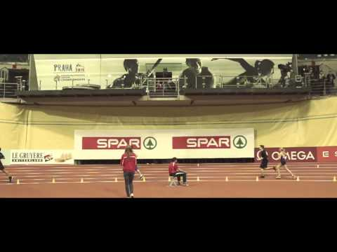 Omega Media Race - journalist's race 800m, Praha 2015 European Indoor Athletics Championships