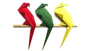 Origami Tiere falten - #05 Papagei (parrot)