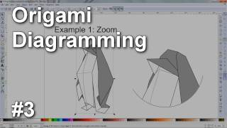 Origami Diagramming #3 - Enlarged view, X-ray view