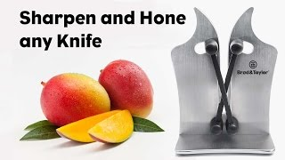 Brod & Taylor manual knife sharpener demonstration.