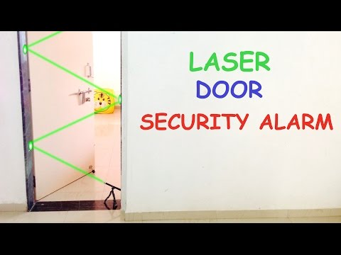 How to Make LASER DOOR SECURITY ALARM at Home - YouTube