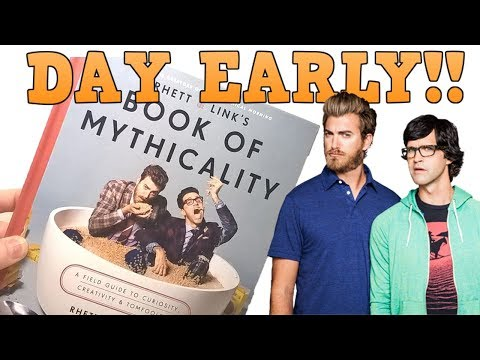 I GOT THE BOOK OF MYTHICALITY A DAY EARLY! Rhett & Link Book Unboxing!