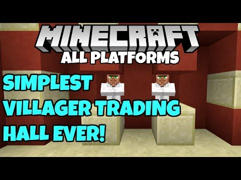 How To Make The SIMPLEST Villager Trading Hall In Minecraft! Tutorial Bedrock Edition Xbox PE PC