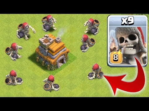 Thumbnail: GIANT SKELETON vs. TOWN HALL!! | Clash of clans | NEW TROOP!!