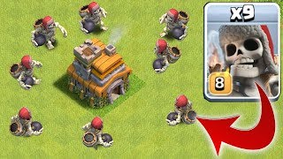 GIANT SKELETON vs. TOWN HALL!! | Clash of clans | NEW TROOP!!
