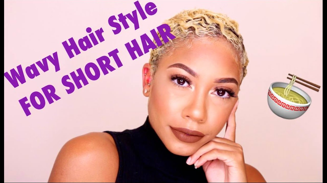 Wavy Hair Style For Short Natural Hair Faceovermatter Youtube