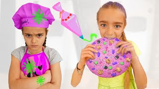 Gisele y Claudia decoran galletas para merendar Las Ratitas videos for kids