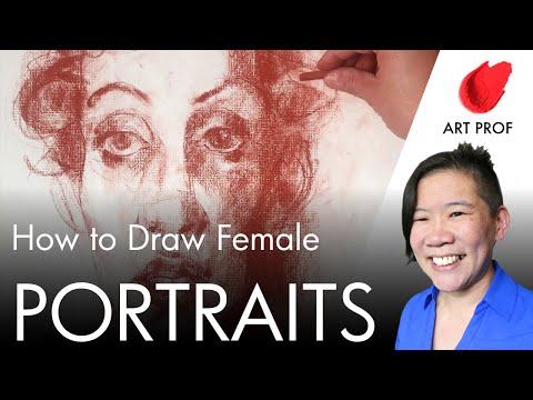 Art Professor Demos Drawing Heads: Anatomy For Artists, Part 14