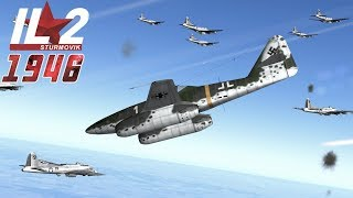 Full IL-2 1946 mission: B-17 Formation Attacked by Me-262s