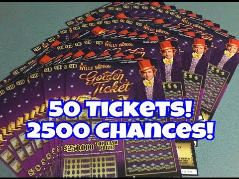 $500 FULL BOOK! Willy Wonka Golden Ticket Texas Lottery Scratch Off Tickets