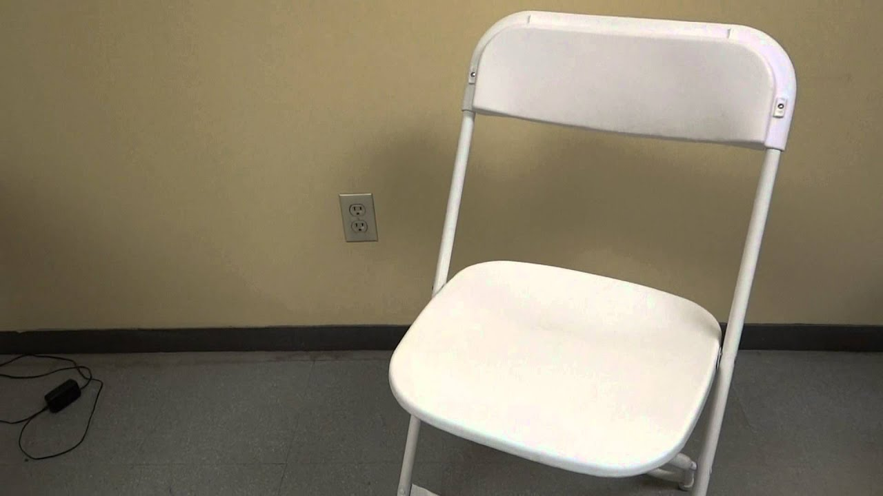 White Metal Folding Chair Product