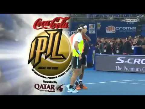 Bopanna & Nadal vs Cilic & Federer FULL MATCH HD IPTL New Delhi 2015