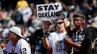 Oakland Raiders set to move to Las Vegas after NFL approval – video report thumbnail