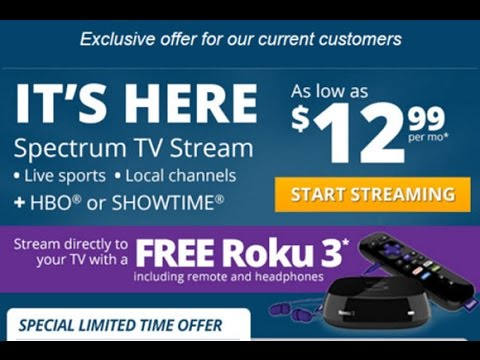 Charter Spectrum Stream TV App Review - Free Roku 3 Offer
