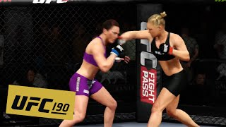 UFC 190: Ronda Rousey vs. Bethe Correia FULL FIGHT HIGHLIGHTS (EA Sports UFC)
