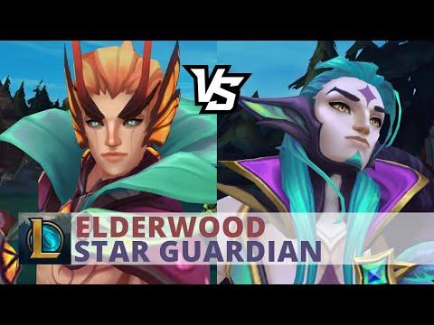 Elderwood Rakan Vs Star Guardian Rakan - League Of Legends