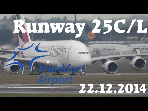 Frankfurt Airport Spotting 22.12.2014 [FullHD]
