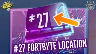 Fortnite Fortbyte #27 Location Guide! FOUND SOMEWHERE WITHIN MAP LOCATION A4