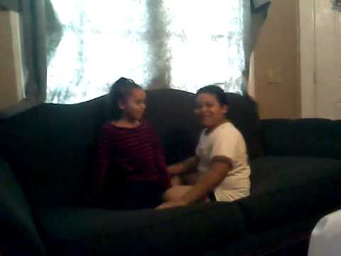 Boy freaking out because he had to hug sister