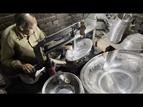 Crafting on Stainless Steel Basin with Amazing Skills