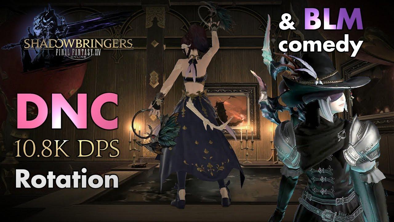 FFXIV - Dancer/DNC 10 8k DPS rotation (and BLM comedy - Patch 5 08)