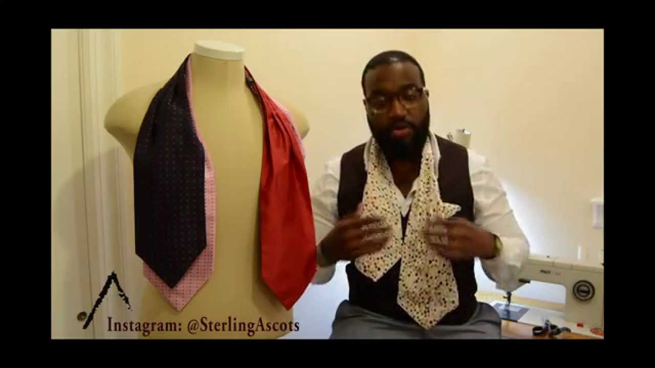 How To Tie An Ascot Cravat Sterling Ascots Youtube