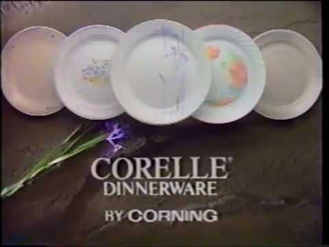 Corelle - Dinnerware - Dinner Ware - Plates Commercial (1990) & Corelle - Dinnerware - Dinner Ware - Plates Commercial (1990) - YouTube