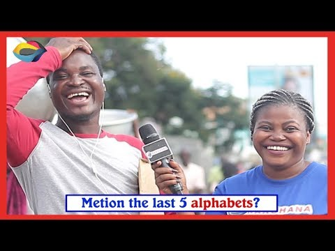 Mention the last 5 letters of the English Alphabet Street Quiz | Funny Videos | Funny African Videos