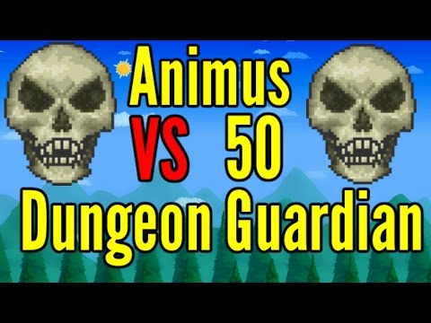 Terraria: Animus VS 50 Dungeon Guardians