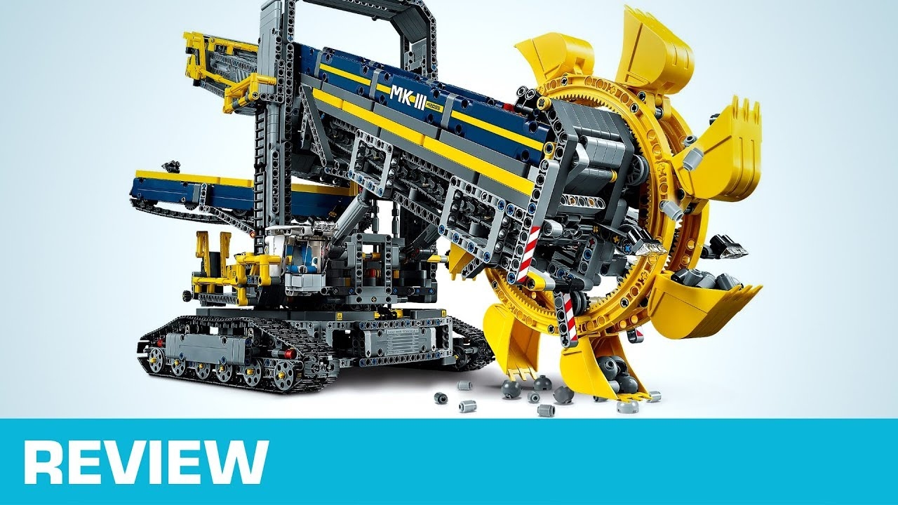REVIEW: LEGO Schaufelradbagger (42055) - YouTube