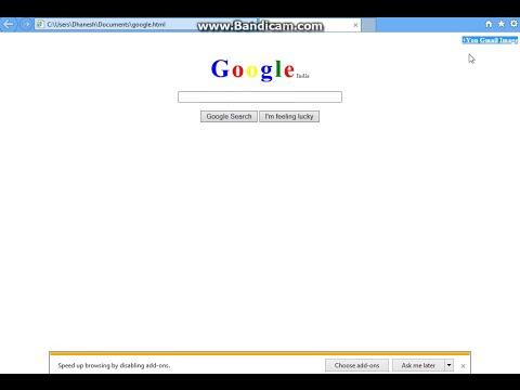 HTML coding similar to GOOGLE webpage....