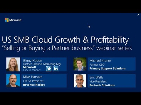Selling or Buying a Partner Business Webinar with Revenue Rocket Consulting Group and Microsoft #3
