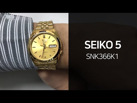 세이코5 SNK366K1 메탈시계 1분 영상 - 타임메카
