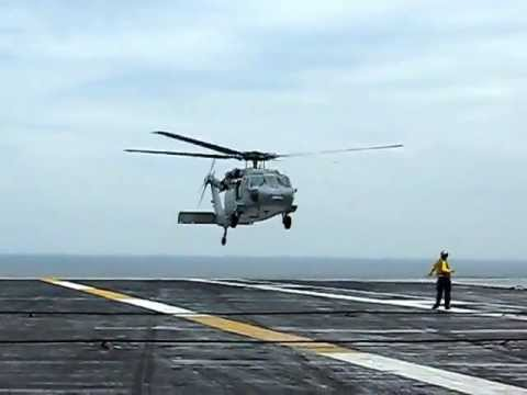 SH-60 Seahawk Carrier Takeoff