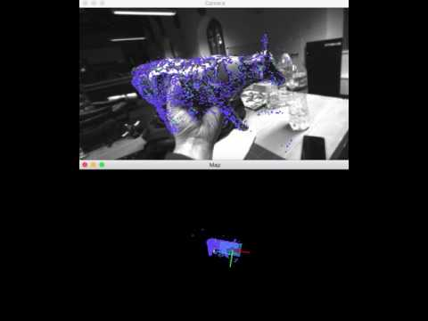 Kudan SLAM - object tracking a cow