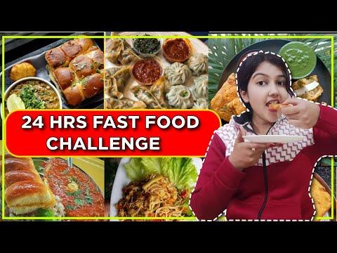 😵I ATE ONLY FAST FOOD FOR 24 HOURS 😱 CHALLENGE | Trending Food Challenge 😋|vlogger sapna
