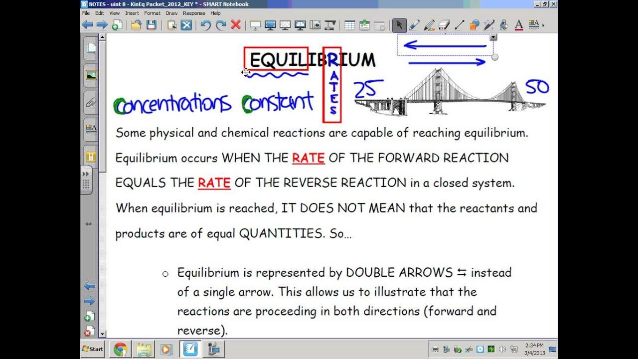 Kinetics, Thermodynamics, & Equilibrium: Chemical ...