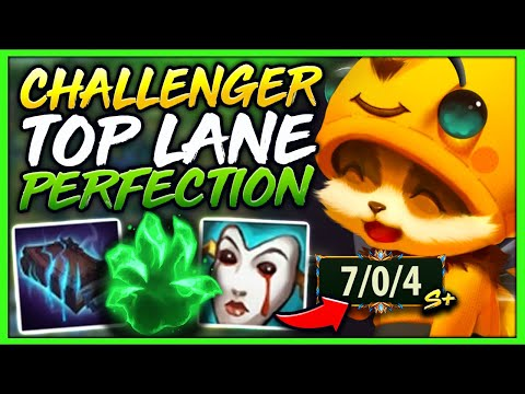 #1 TEEMO WORLD ABSOLUTELY PERFECT TOP LANE MECHANICS IN CHALLENGER - League of Legends
