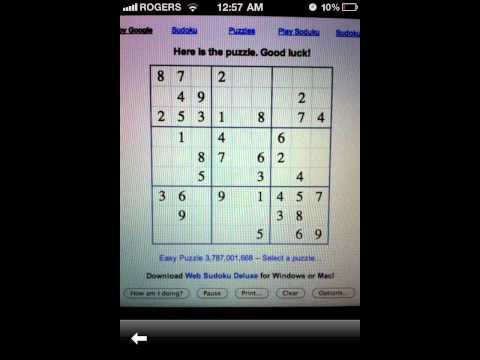 Solve Sudoku with iPhone Google App