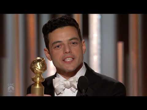 HD 2019 Golden Globes Rami Malek & Bohemian Rhapsody Best Actor and Best Motion Picture