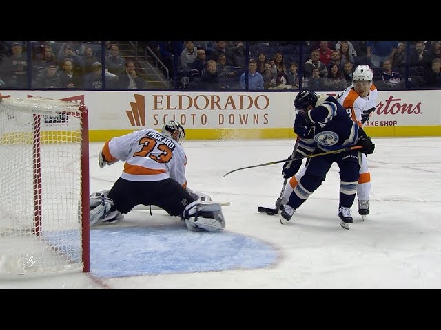 Cam Atkinson uses silky toe drag to beat Pickard for second goal