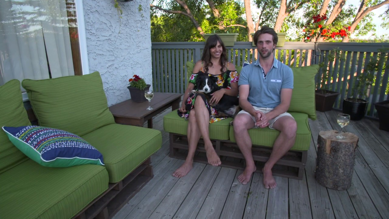 How To Build A Pallet Patio Set Youtube