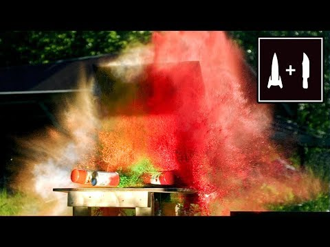 Rocket Knife - Spray Can ART (Making a masterpiece in less than 0.5 seconds)