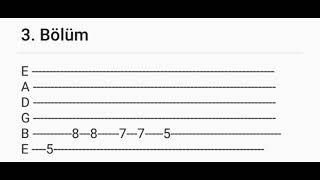 Manuş Baba - Bu Havada Gidilmez ( Tab + Nota + Solfej )