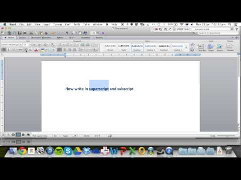 Superscript And Subscript In Microsoft Word For Mac 2011