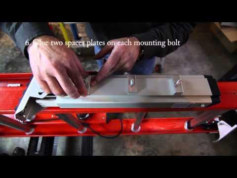 Levelok Permanent Mount Ladder Levelers Installation on Werner D6200 2 Extension Ladder