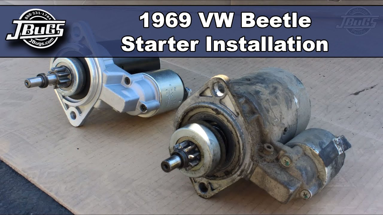 Jbugs 1969 Vw Beetle Starter Installation Youtube 1600 Engine Diagram